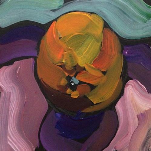 """One Stroke Orange"" original fine art by Kat Corrigan"