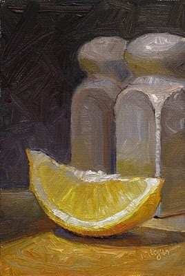 """Lemon Slice"" original fine art by Raymond Logan"