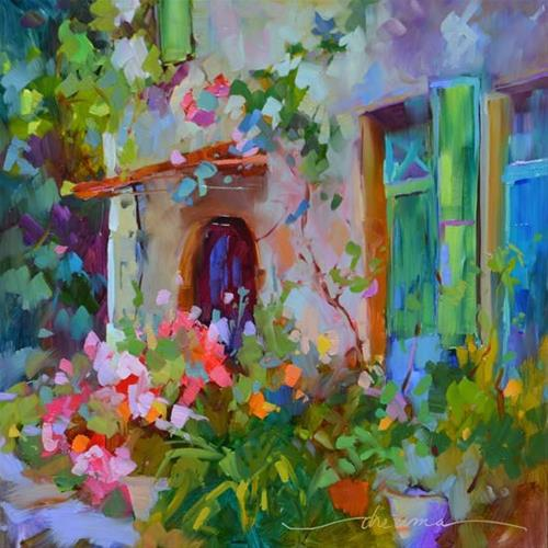"""Delicate Beauty in France"" original fine art by Dreama Tolle Perry"