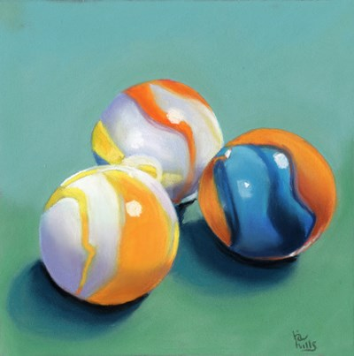 """Marbles and Studio Sale"" original fine art by Ria Hills"