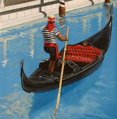 """4 of 4 - Gondola Commission"" original fine art by Jelaine Faunce"