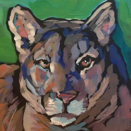 """Puma"" original fine art by Kat Corrigan"