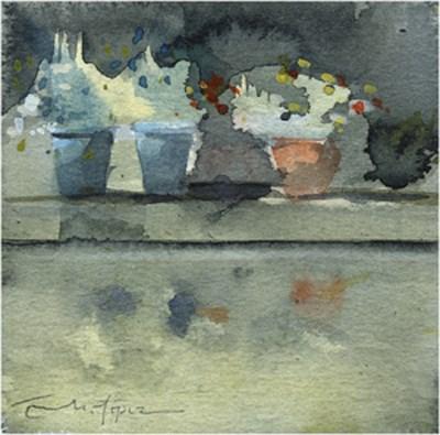 """patio 75"" original fine art by Emilio López"