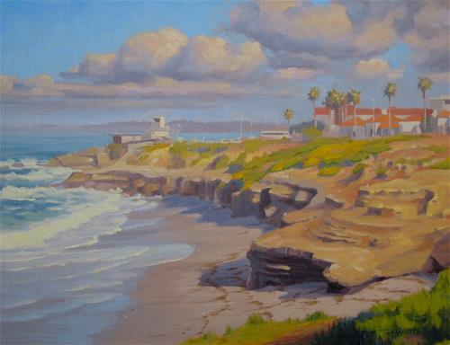 """Sunset Cliffs La Jolla"" original fine art by John White"
