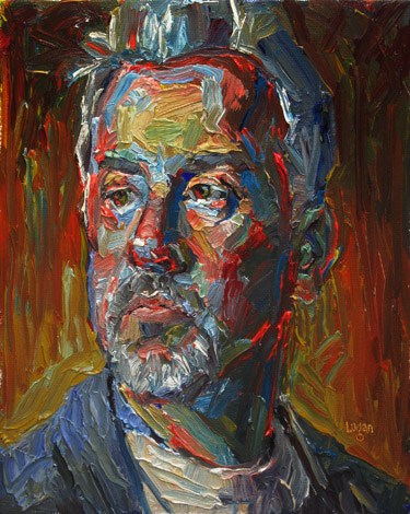 """The Artist Goateed"" original fine art by Raymond Logan"