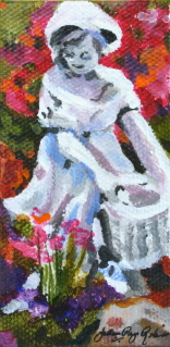 """Garden Girl"" original fine art by JoAnne Perez Robinson"