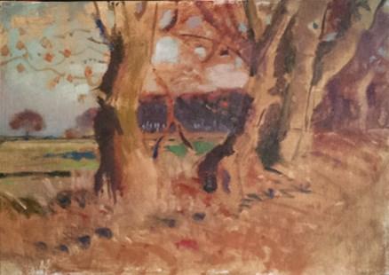 """Winter Fields"" original fine art by Ed Cooper"