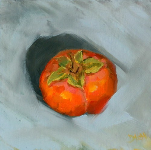"""Persimmon Fruit"" original fine art by Dalan Wells"