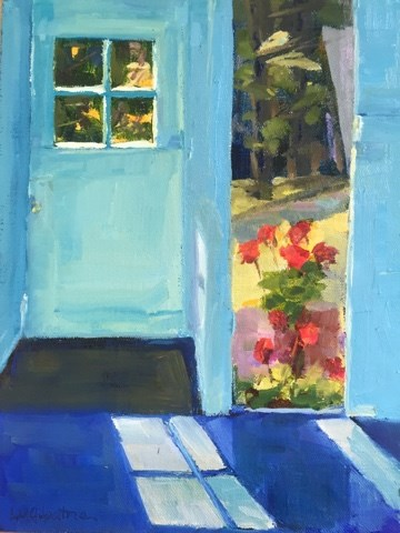 """189 Window View"" original fine art by Libby Gilpatric"