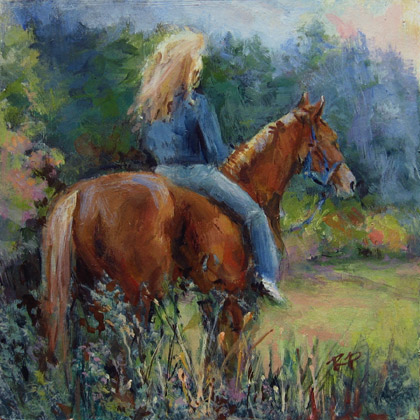 """Whispers in the Wind"" original fine art by Robin Peterson"