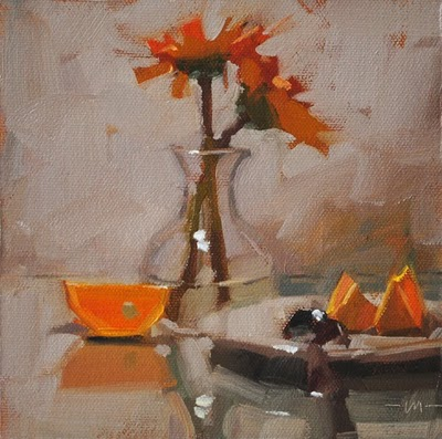 """Simple Breakfast 4"" original fine art by Carol Marine"