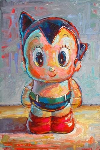 """Little Astro Boy"" original fine art by Raymond Logan"