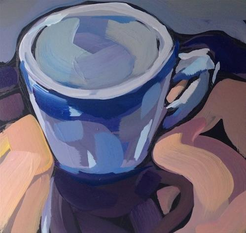 """Backlit Mug"" original fine art by Kat Corrigan"