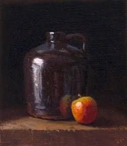 """Apple with Ceramic Jug"" original fine art by Abbey Ryan"