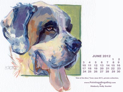 """June Desktop Calendar"" original fine art by Kimberly Santini"