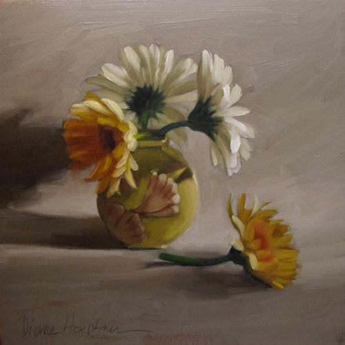 """Daisy Cycle original oil painting flowers"" original fine art by Diane Hoeptner"