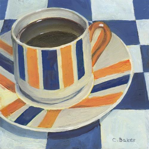 """French Roast"" original fine art by Carole Baker"