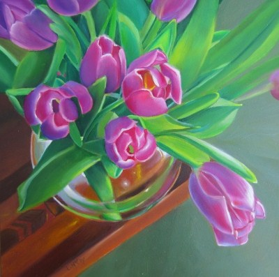 """Dutch Treat Oil Painting by Linda McCoy"" original fine art by Linda McCoy"