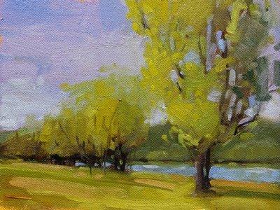 """Spring Green"" original fine art by Laurel Daniel"