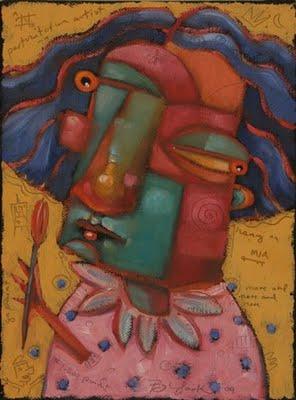 """""""Queen Of Toomuch"""" original fine art by Brenda York"""