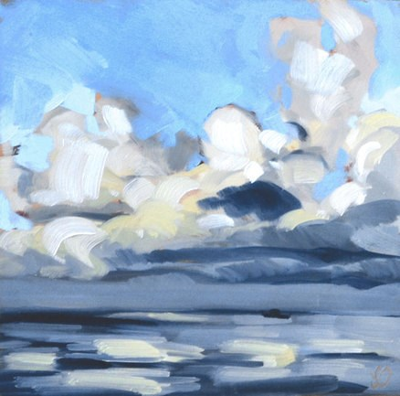 """Ocean Clouds"" original fine art by Jessica Green"