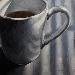 """Morning Cup"" original fine art by Michael Naples"