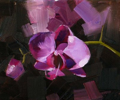"""""""First Orchid --- Sold"""" original fine art by Qiang Huang"""
