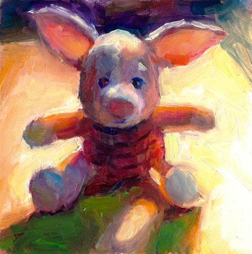 """Backlit Piglet 1"" original fine art by Sharon Savitz"