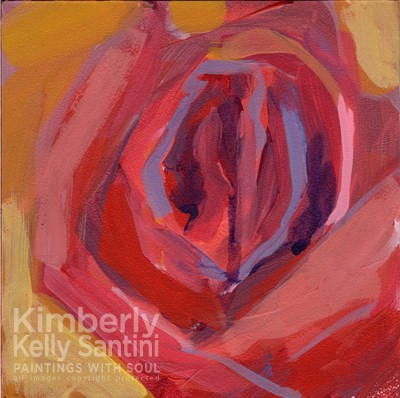 """RoseGlow"" original fine art by Kimberly Santini"
