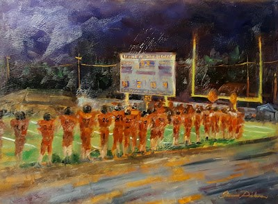 """Friday Night Lights in Fairfield"" original fine art by Tammie Dickerson"