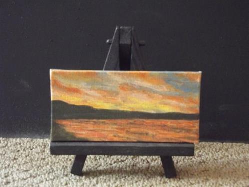 """""""Sunset Beach"""" original fine art by Amy VanGaasbeck"""