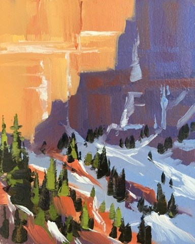 """Kolob Walls 4"" original fine art by Mary Jabens"