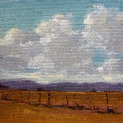 """Western Skies Study"" original fine art by Laurel Daniel"