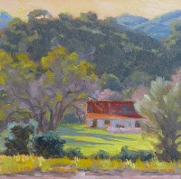 """Las Virgenes Barn"" original fine art by Anette Power"