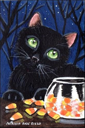 """Cat's in the Corn"" original fine art by Patricia Ann Rizzo"
