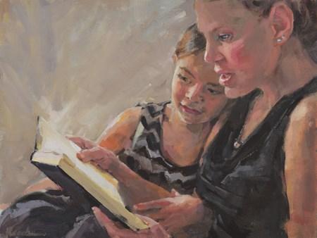 """The Story She Told, 9×12″ portrait."" original fine art by Jessie Rasche"