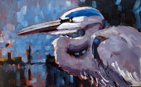 """Blue Heron Study"" original fine art by Rick Nilson"
