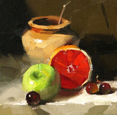 """Ruby Red --- Sold"" original fine art by Qiang Huang"