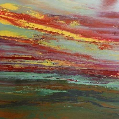 """Contemporary Abstract Landscape PaintingsHarmonious II by International Contemporary Landscape Art"" original fine art by Kimberly Conrad"