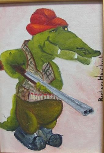 """Gator Huntin"" original fine art by Barbara Haviland"