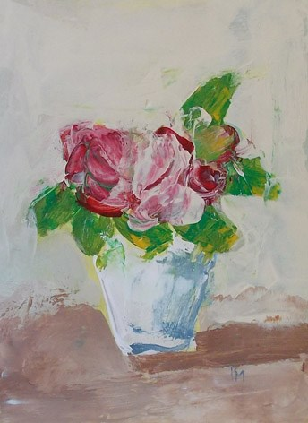 """pink blooms"" original fine art by Pamela Munger"