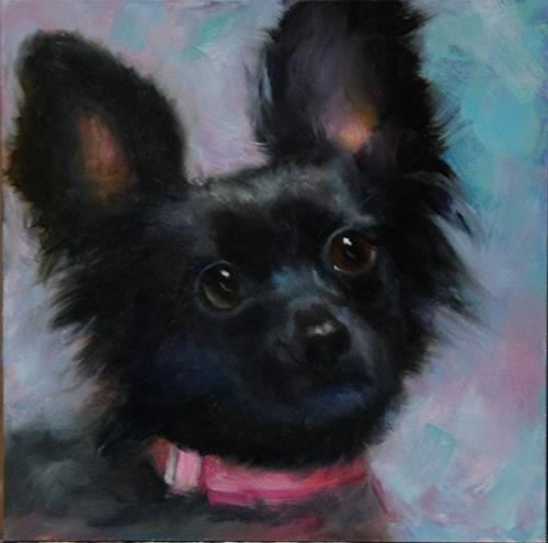 """Jillian's Dog 4"" original fine art by Dorothy McLennan"