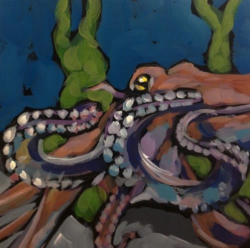 """Octo-Time"" original fine art by Kat Corrigan"