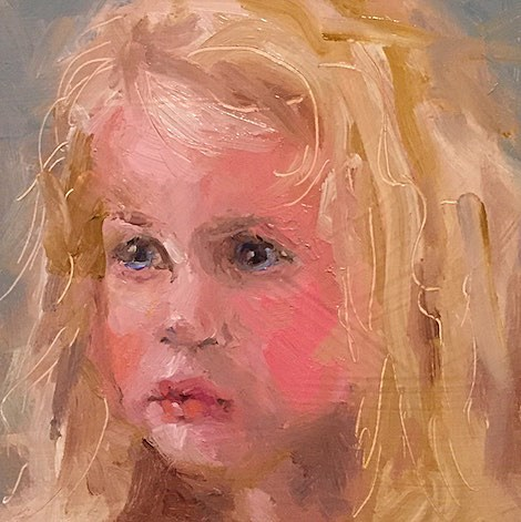 """She Talks to Angels"" original fine art by Marcia Hodges"