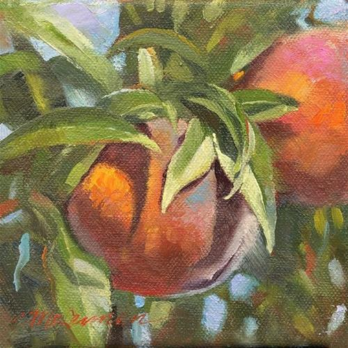 """Mary's Peaches"" original fine art by Connie McLennan"