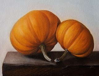"""Pumpkins"" original fine art by Jonathan Aller"