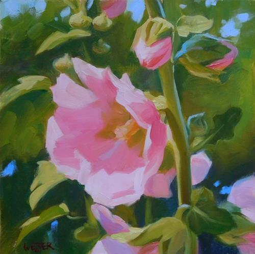 """Think Pink"" original fine art by Kathy Weber"