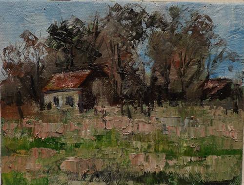 """Landscape,J6"" original fine art by Run-      Zhang Zane"