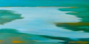 """Sacramento River Delta"" original fine art by Janet Bludau"