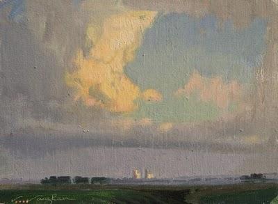 """""""Plains Towers"""" original fine art by V.... Vaughan"""